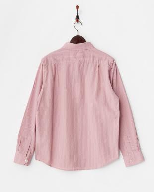 PNK  ストライプ織レギュラーシャツ WH見る