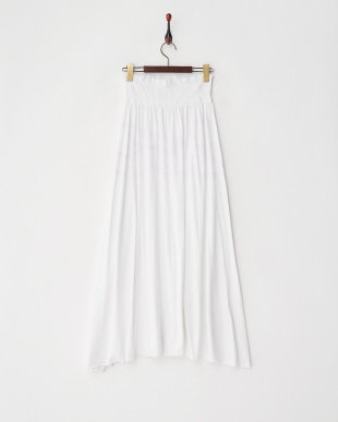 ホワイト JOY JUPEコットンラメ柄スカート見る
