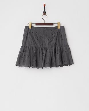 グレー  JAMES VINカットワーク刺繍スカート見る