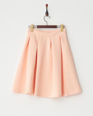 ピンク  ボンディングフレアスカート見る