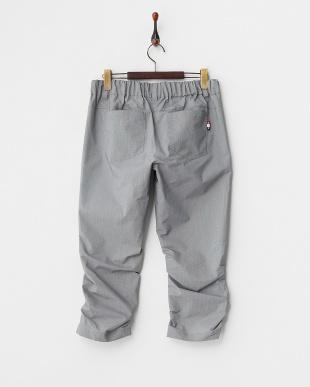 ブラック  吸汗速乾/UVカット ストレッチ裾シャーリングクロップドイージーパンツ見る