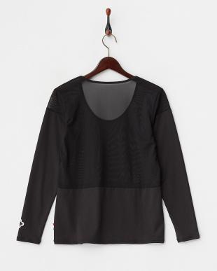 ブラック  吸汗速乾/UVカット/消臭糸 長袖インナーシャツ見る