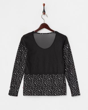 ブラックドット  吸汗速乾/UVカット/消臭糸 長袖インナーシャツ見る