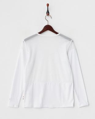 ホワイト  吸汗速乾/UVカット/消臭糸 クルーネック長袖インナーシャツ見る