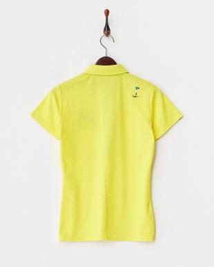 イエロー  吸汗速乾/UVカット 小ドット柄半袖シャツ見る
