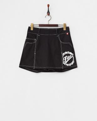 ブラック UVカット ショートパンツ一体型ストレッチスカート見る