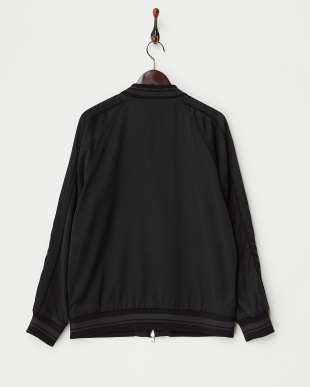 ブラック×チャコール  サテンスーベニアジャケット見る