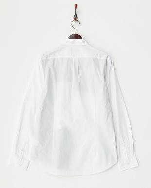 ホワイト  ブロードパッチワークシャツ見る