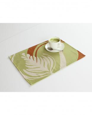 抹茶ラテ  2枚組・ランチョンマット|sambelm見る