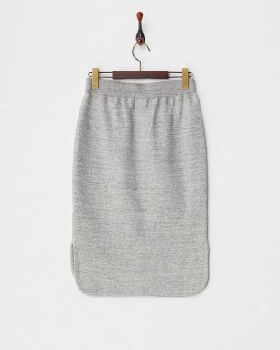粗びきグレー C/W裏毛スカート見る