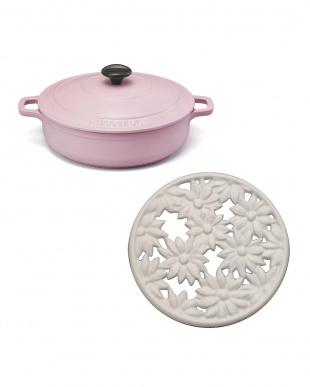 CHASSEUR福袋 ピンク鍋+トリベットセット見る