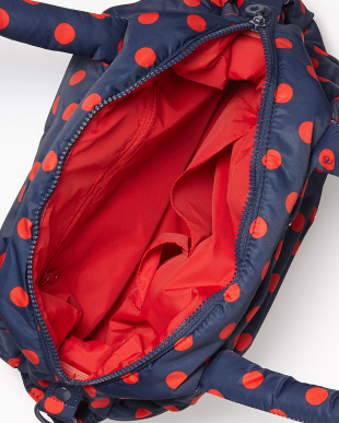 Small Dots Nevy/Red  3-WAY Tote見る