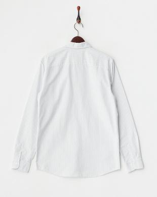 ブルー chemise oliver ストライプ長袖シャツ見る