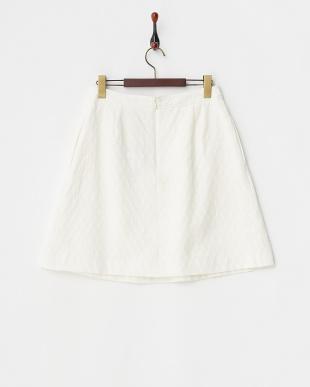 オフホワイト ジャガードコットンフレアスカート見る