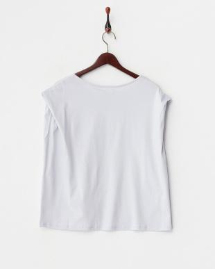 ラベンダー  コットンスムース変形Tシャツ見る