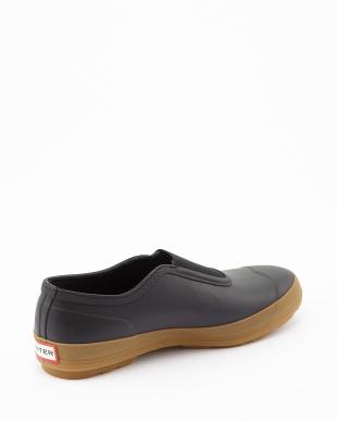 BLACK  M ORG PLIMSOLE  GUM SOLE sneaker見る