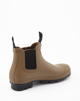 LIGHT KHAKI BROWN  M ORG CHELSEA DARK SOLE RMA short boots見る