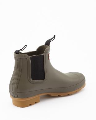 SWAMP GREEN  MENS ORG GUMSOLE CHE short boots見る