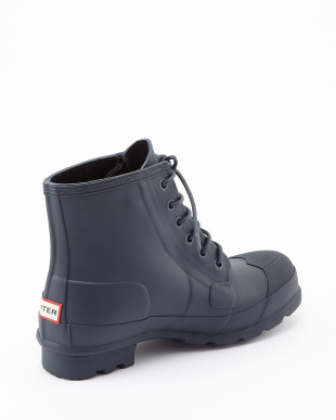 NAVY ORIG RUBBER LACE UP short boots見る