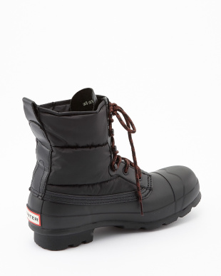 BLACK M ORG QUILTED LACE UP SHORT boots見る