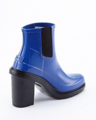 BRIGHT COBALT W ORG REFINED HIGH HEEL CHL SHORT BOOTS見る
