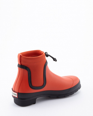 TENT RED  W ORG DRAWSTRING CHELSEA SHORT BOOTS見る