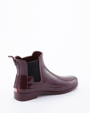 DULSE W ORG REFINED CHELSEA GLOSS SHORT BOOTS見る