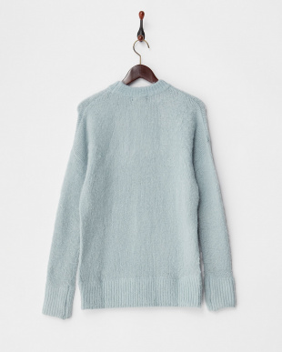 BLUE  MOHAIR OVERSIZED CREW NECK JUMPER見る