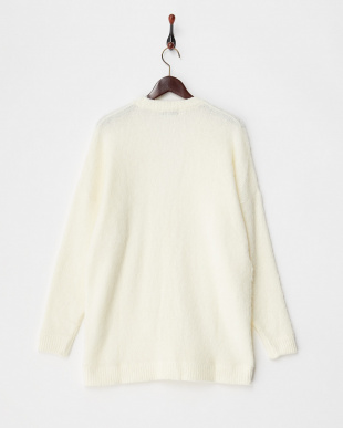 WHITE  MOHAIR OVERSIZED CARDIGAN見る
