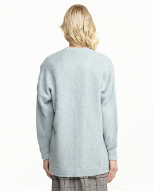 BLUE  MOHAIR OVERSIZED CARDIGAN見る
