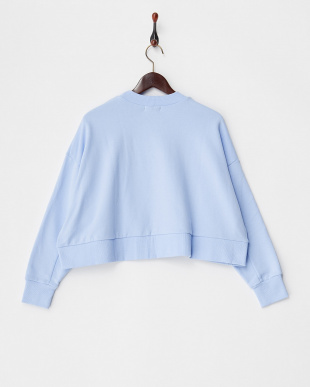BLUE CROPPED WIDE SWEAT SHIRT見る