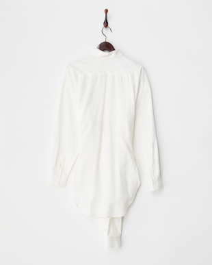 WHITE  DOUBLE SLEEVE SHIRT見る