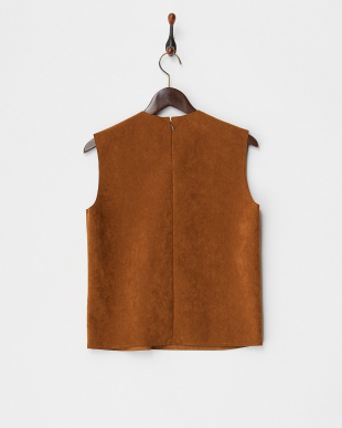 BROWN HEAVY SUEDETTE BOXY TOP見る