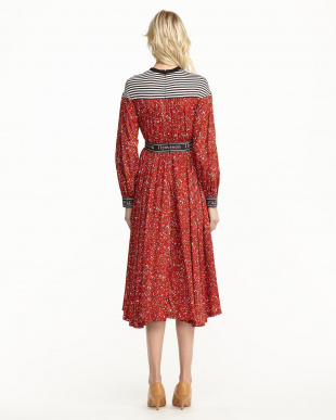 RED LIBERTY PRINT DRESS見る