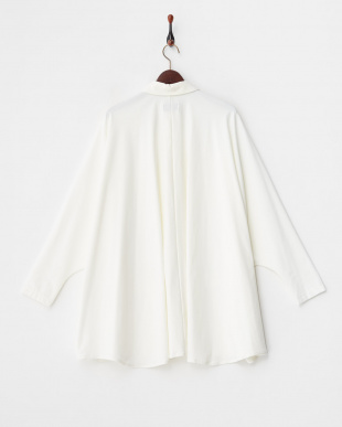 WHITE TRICOT DOLMAN SLEEVE SHIRT見る