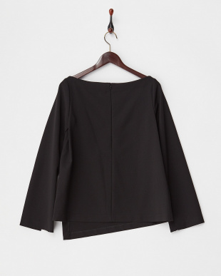 BLACK CADY ASSYMETRIC HEM TOP見る