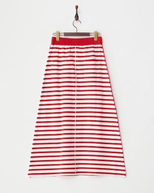 RED  ボーダーロングスカート見る