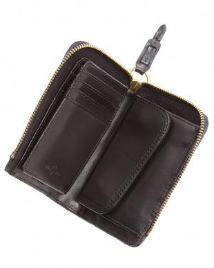 ネイビー/ブラック  ラウンド長財布・片メッシュシリーズ L字ファスナー札入れ見る