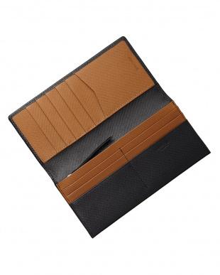 ブラック/ブラウン  リガーシリーズ かぶせ長財布見る