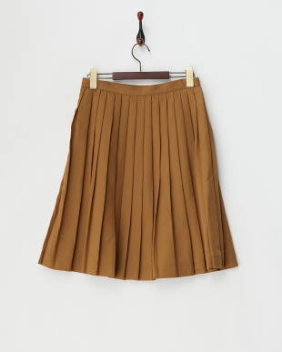 キャメル  エステルウールプリーツスカート見る