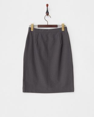 グレー ストレッチジャカードタイトスカート見る