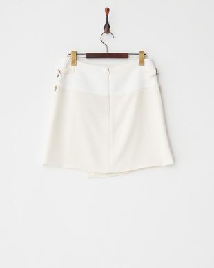 ホワイト トリアセ/Pナチュラルストレッチ スカート見る