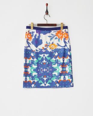 ホワイト ORANGE FLOWER PT ST NETTING スカート見る