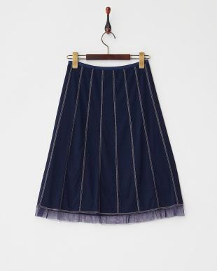ネイビー SOLID ST NETTING スカート見る