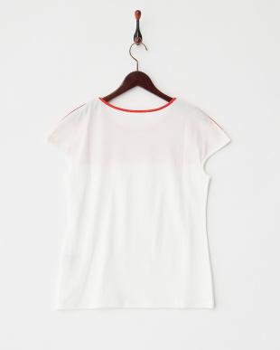 ホワイト リヨセルコットンソフト Tシャツ見る