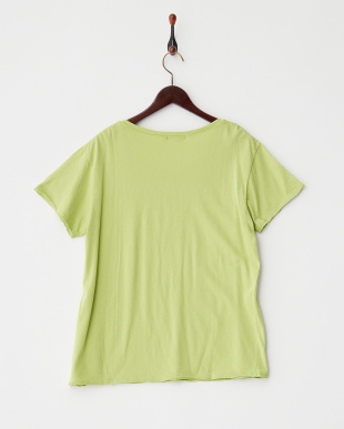 ブライトグリーン FLOWER EMB PT Tシャツ見る