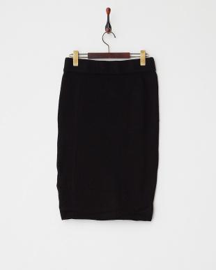 レッド  ラティスニット スカート見る