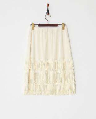 オフホワイト SOLID NETTING スカート見る