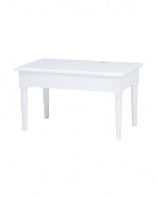 ホワイト コスメテーブル見る