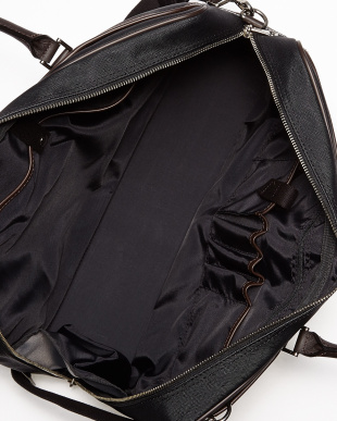ブラック×ダークブラウン  QUADRO ビジネスバッグ(B4サイズ対応)見る